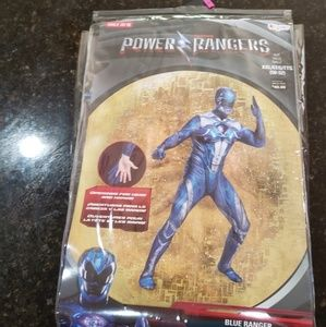 NEED GONE Power Rangers Blue Halloween Costume Men